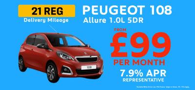 Peugeot 108 Allure from £99 Per Month!