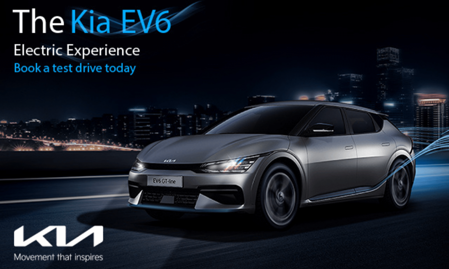The Kia EV6 with test drive and offer