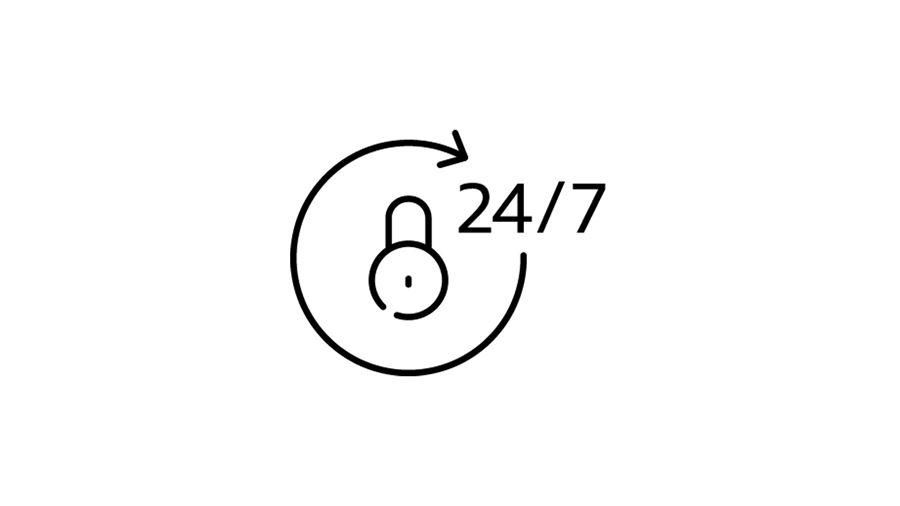 24 7 security icon