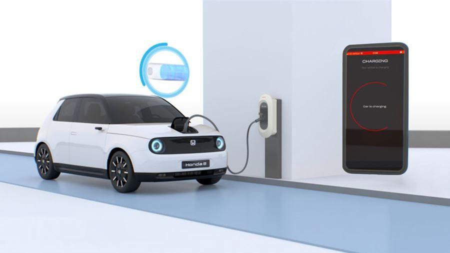 Honda e battery charge through My Honda+ app