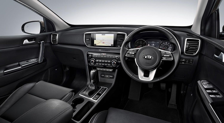 Interior view of a Kia Sportage