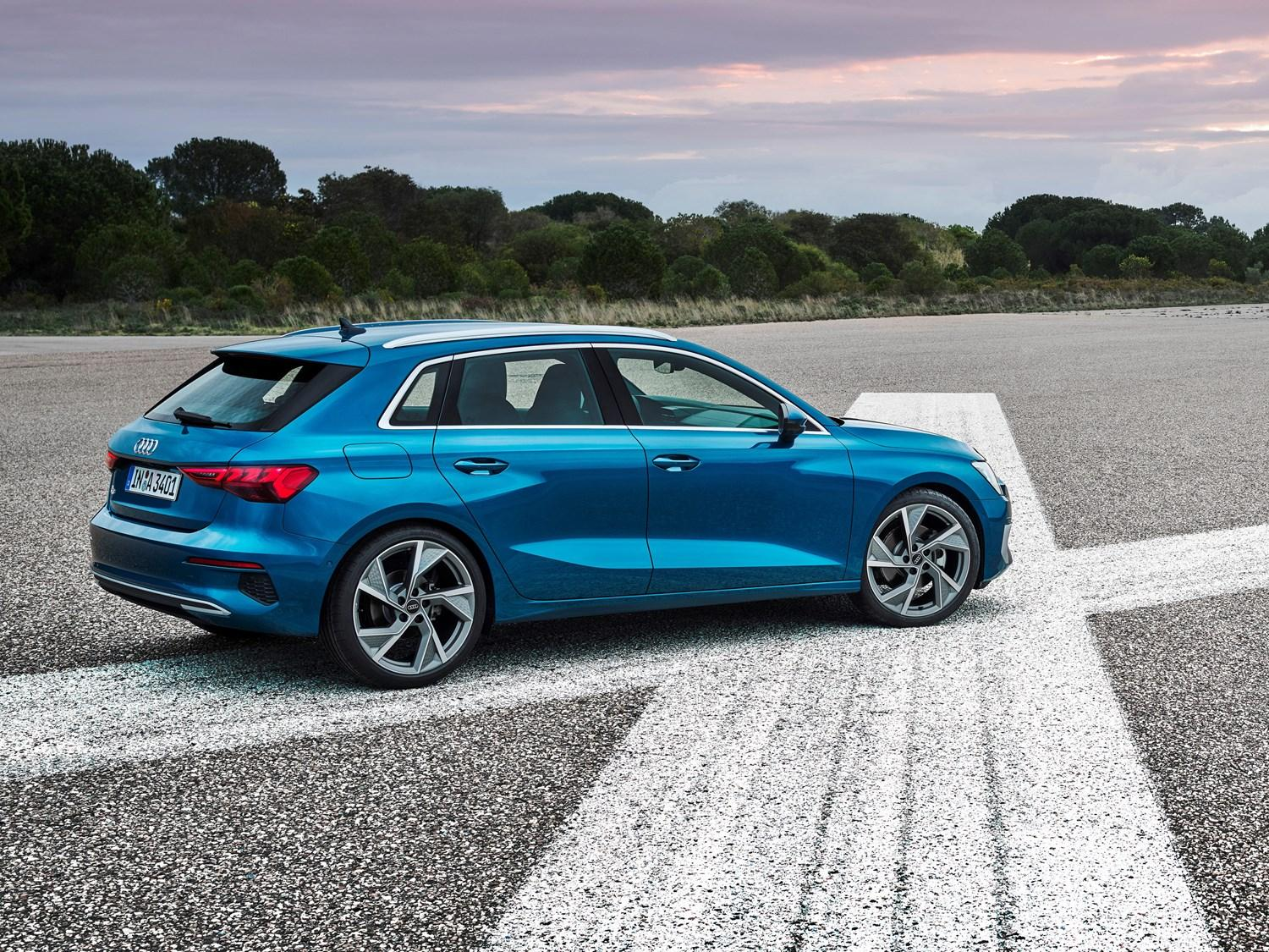 Blue A3 available on Motability