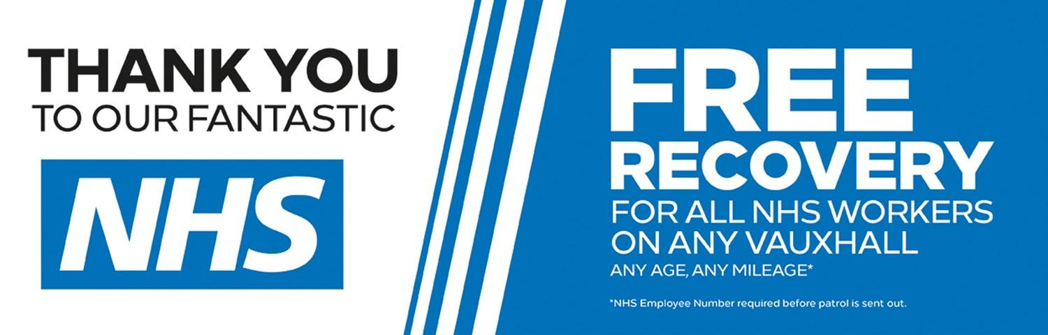 Thank You to our fantastic NHS. Free Recovery for all NHS workers
