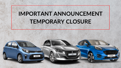 Temporary closure notice