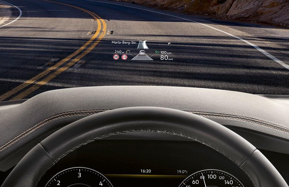 Volkswagen with digital display on screen
