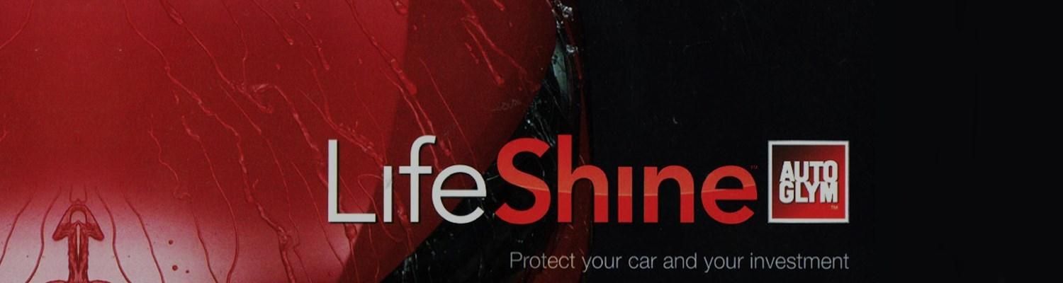 LifeShine Auto Glym logo. Protect your car and your investment