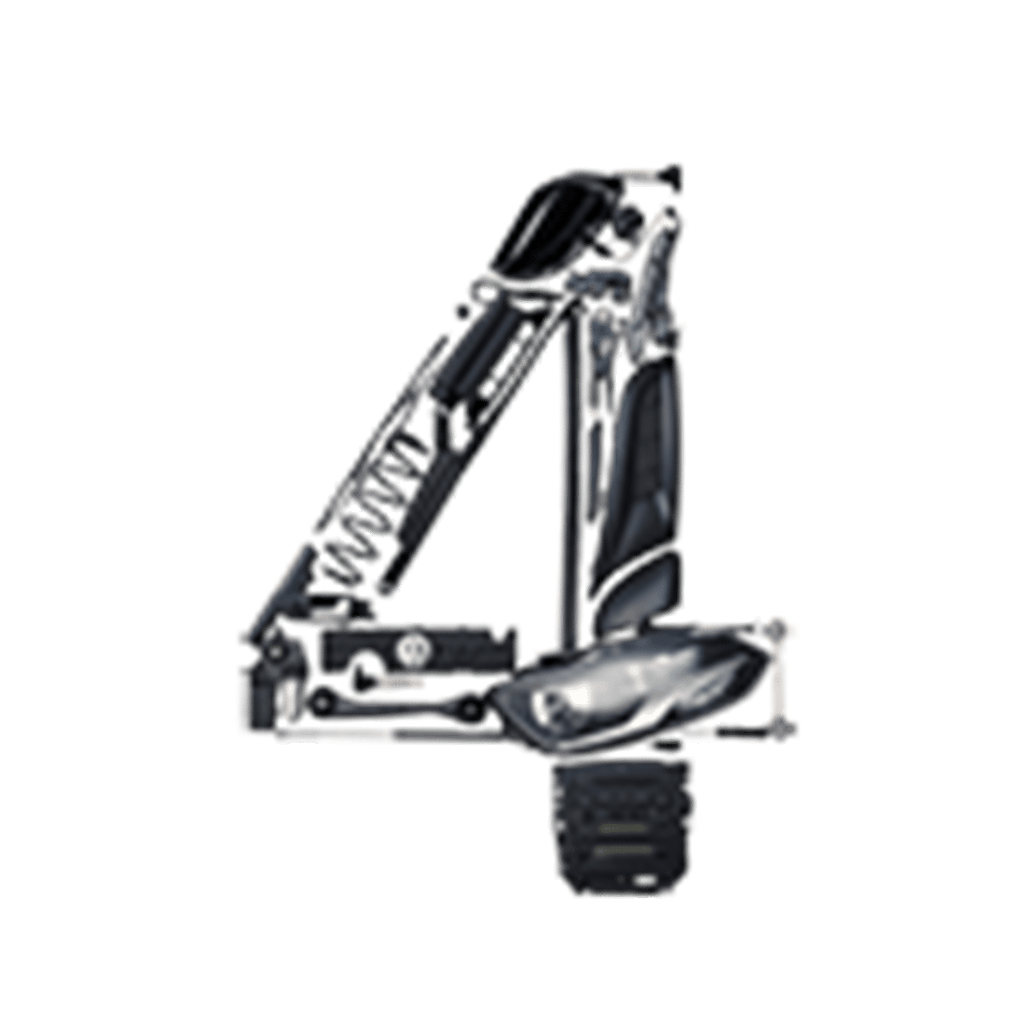 Number 4 made from car parts