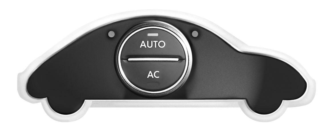 Car outline with air conditioning button