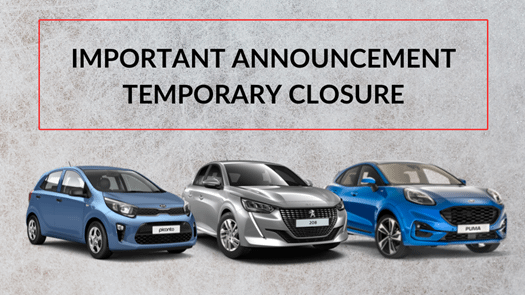 Temporary Closure of Dealerships