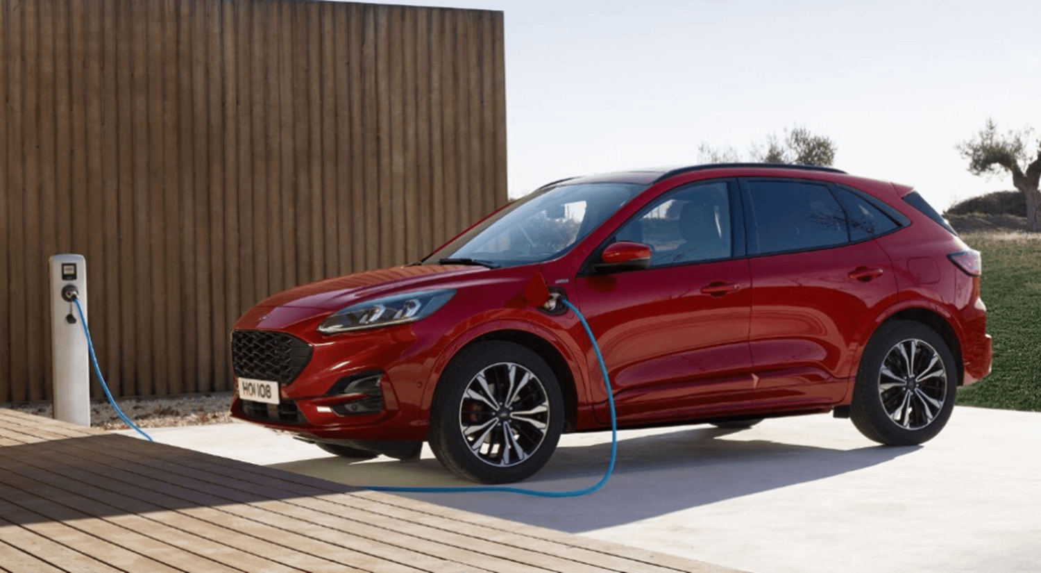Red Plug In Ford Charging