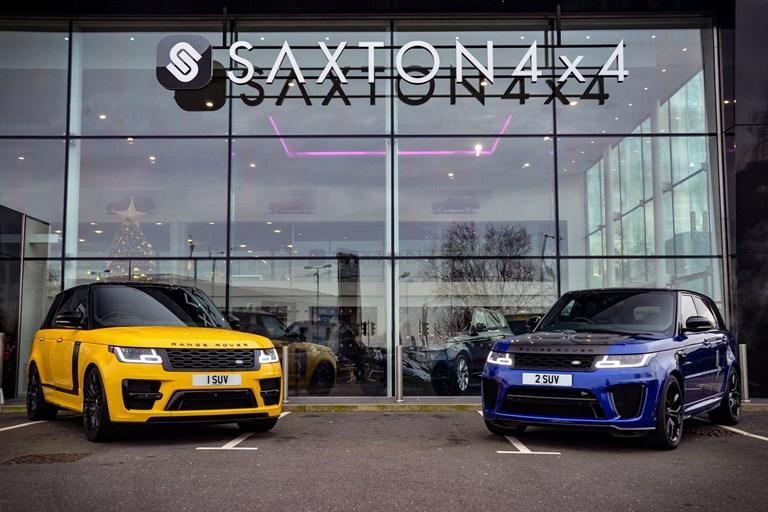 Saxton 4x4 splash £32k on '2 SUV' number plate
