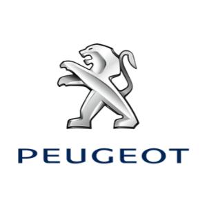 Peugeot logo on a white background