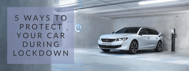 protect car during coronavirus lockdown