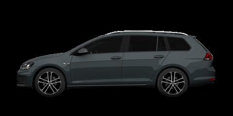 Black Volkswagen Golf Estate