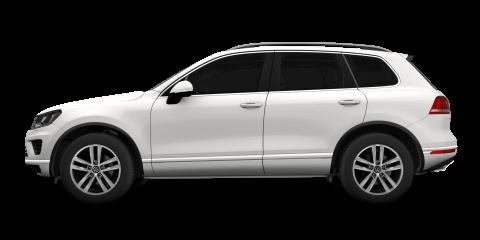 White Volkswagen Touareg
