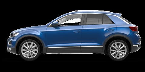 Blue Volkswagen T-Roc