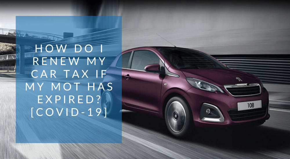 Covid-19 Car Tax renewal query banner