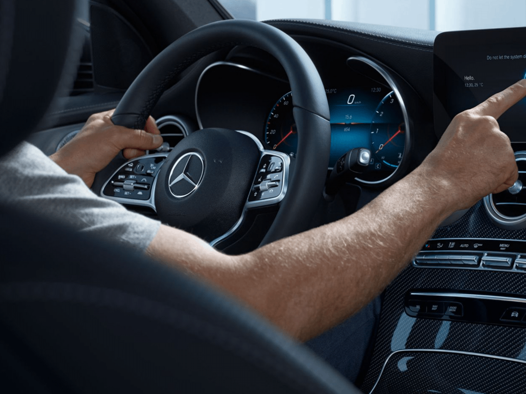 Man Driving GLC Coupe