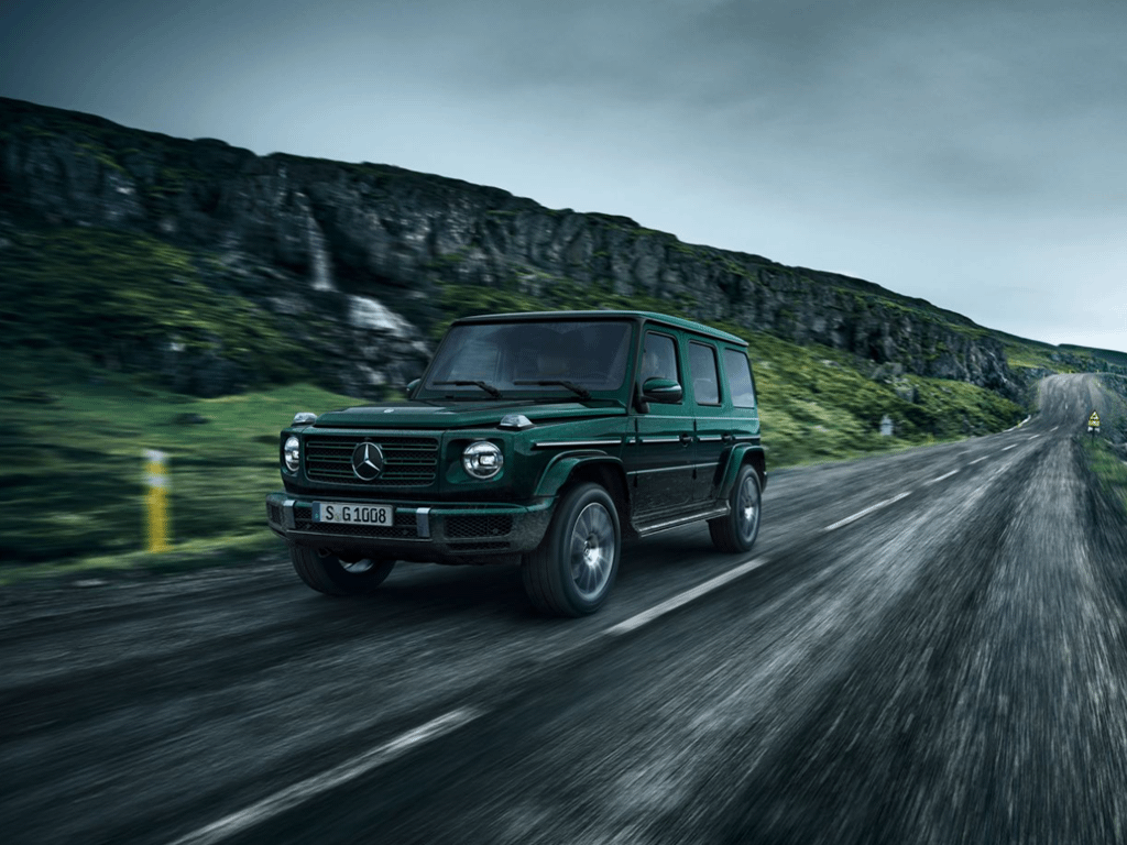 G-Class driving on road