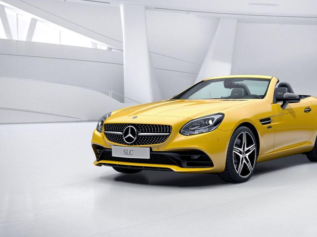 Yellow SLC Roadster