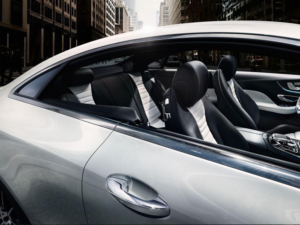 View inside E-Class Coupe through window