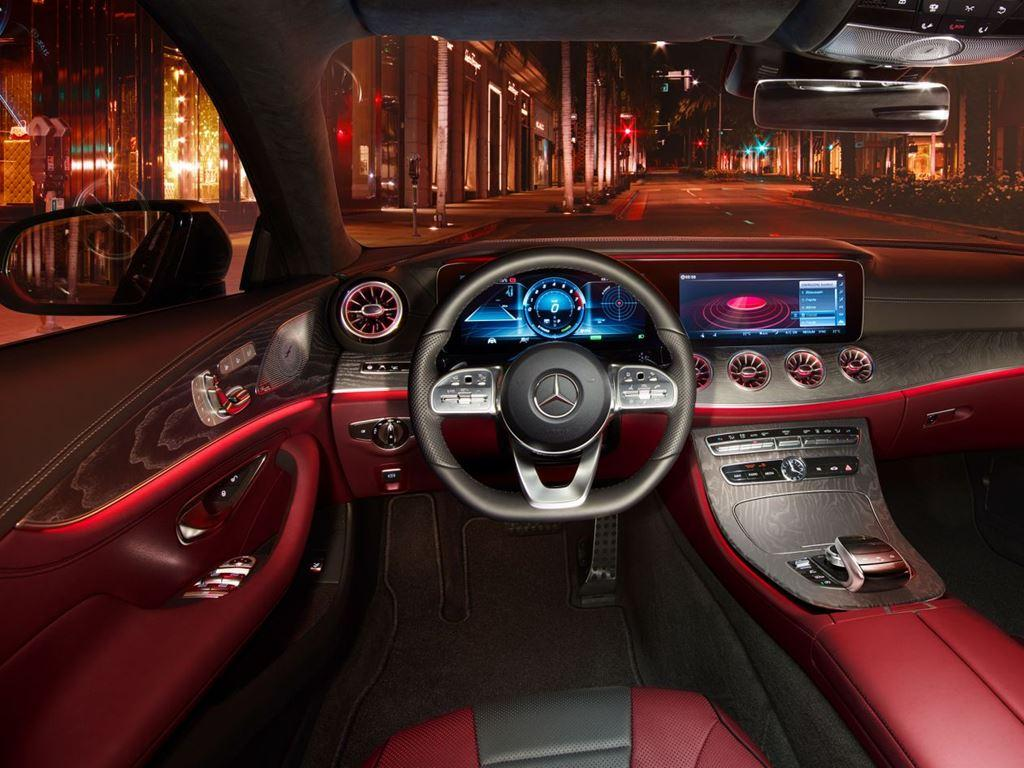 CLS-Coupe Interior Red leather