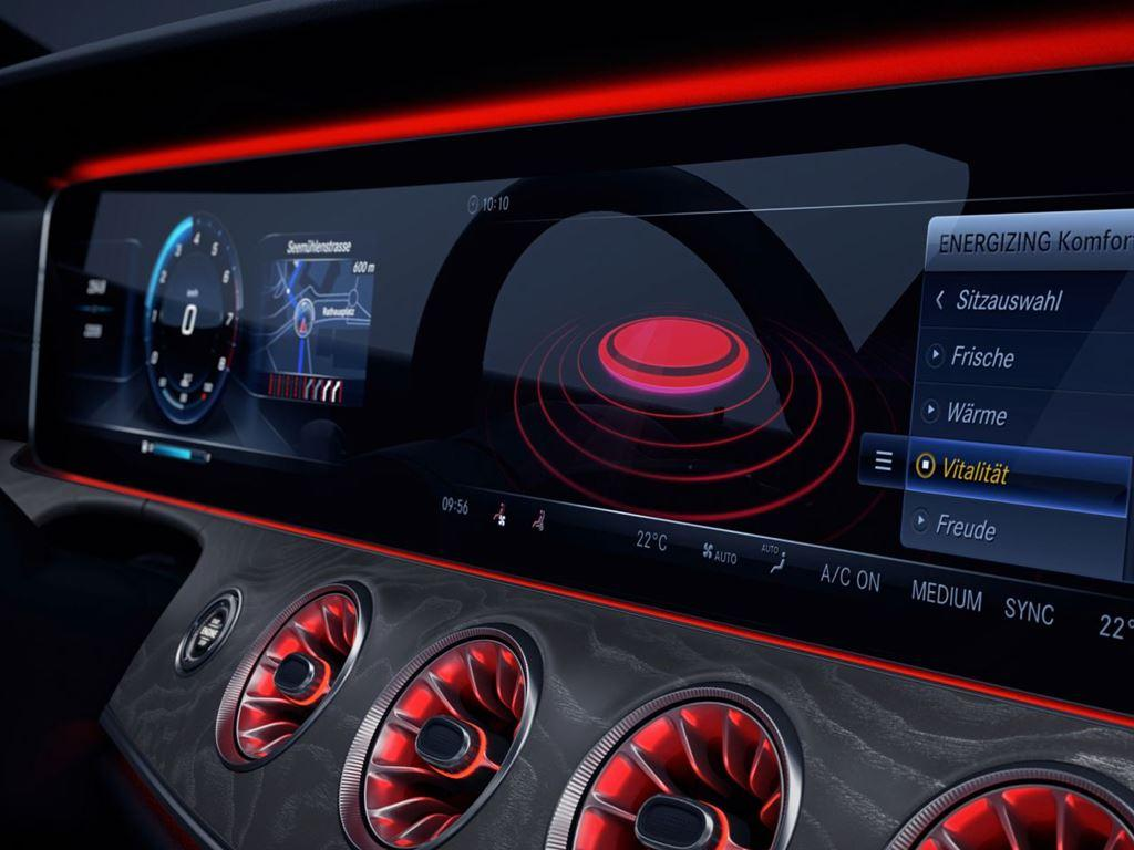 CLS-Coupe Infotainment screen
