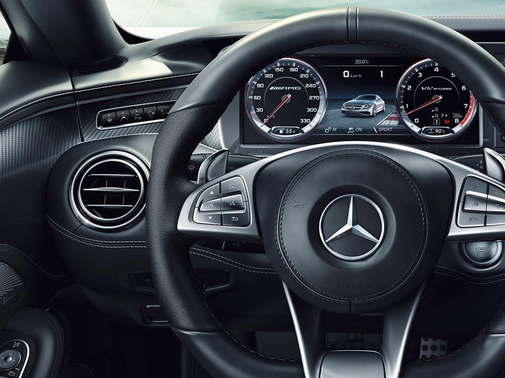 S-Class Coupe Front Dashboard and Wheel