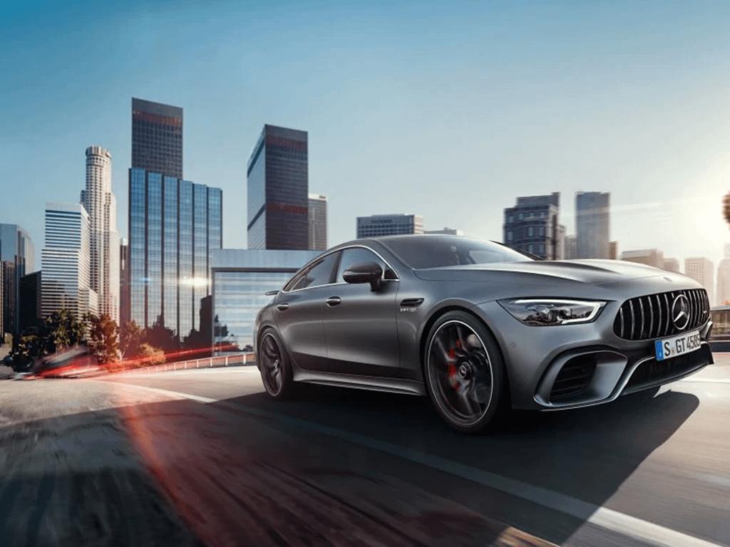 Grey Mercedes-AMG GT 4-Door Coupe