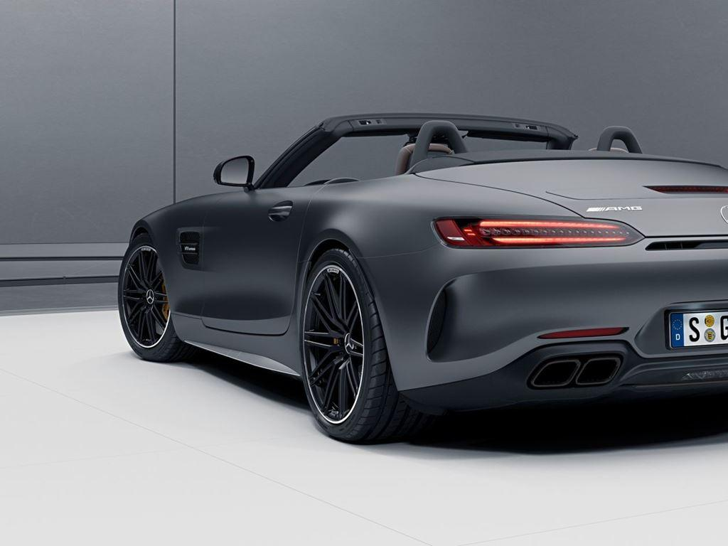 Grey AMG GT Roadster Exterior Rear view