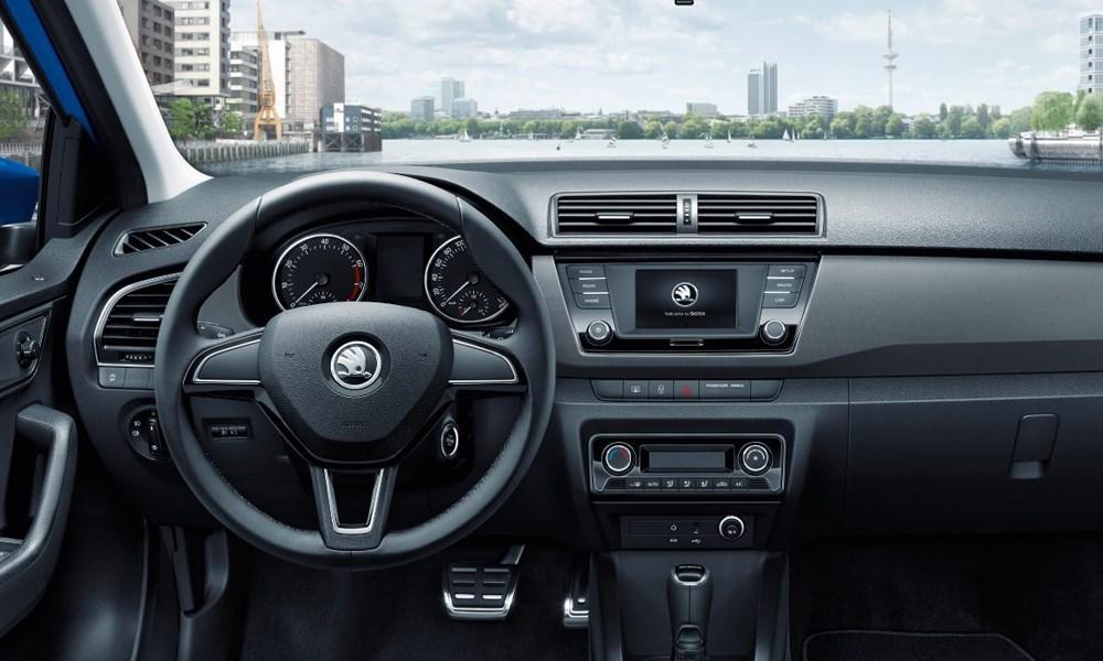 Skoda steering wheel and dashboard
