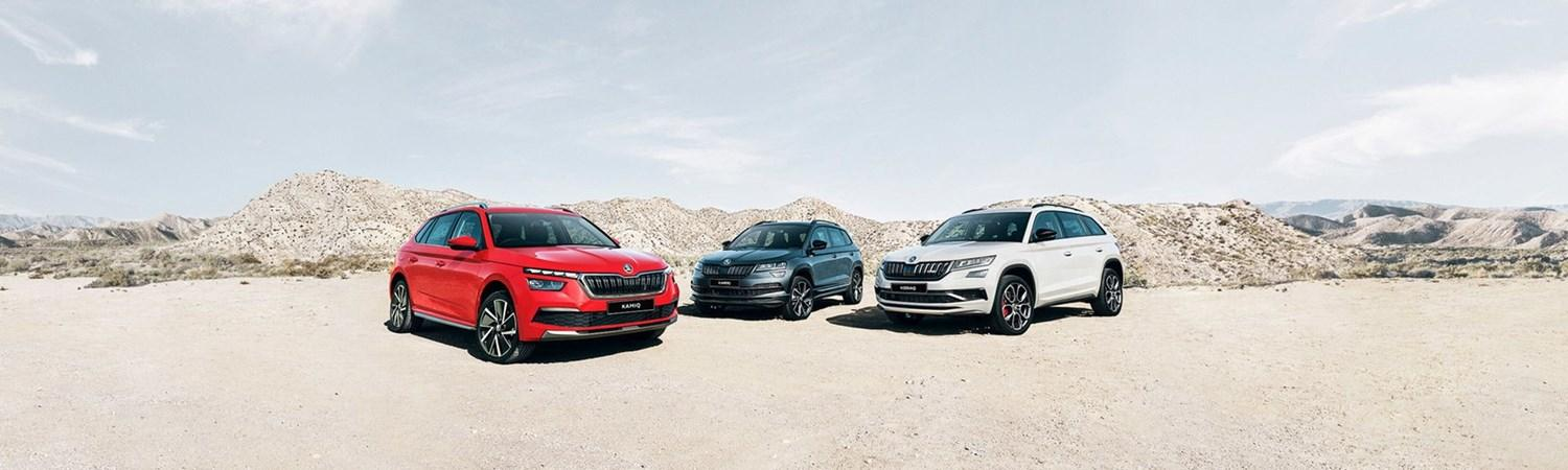 Skoda SUV Range in the desert