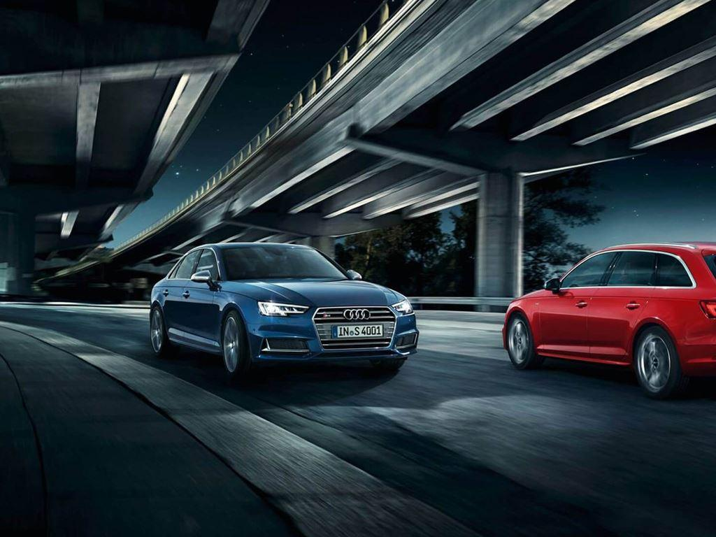 Blue and red S4 Avant
