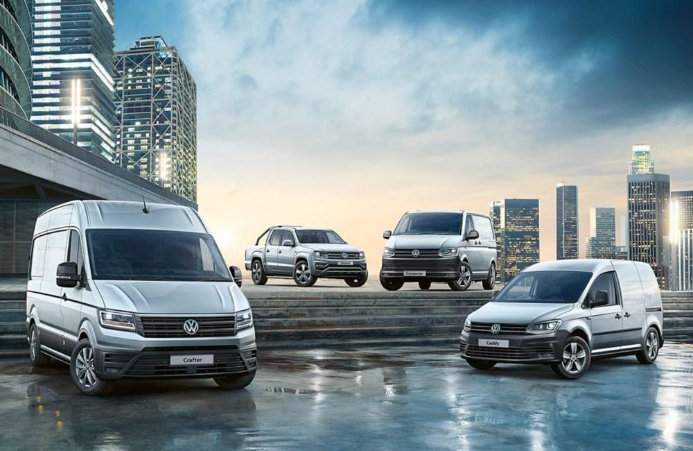 Range of white Volkswagen vans