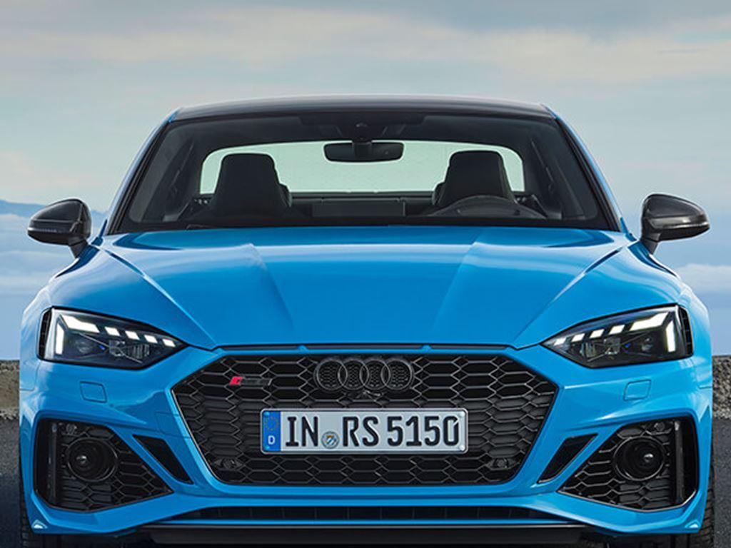 Blue RS5 Coupe Exterior front view