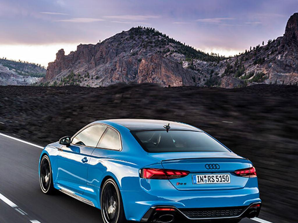 Blue RS5 Coupe Exterior rear view