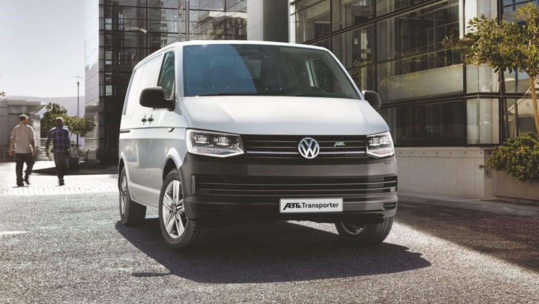White Volkswagen ABT e-Transporter
