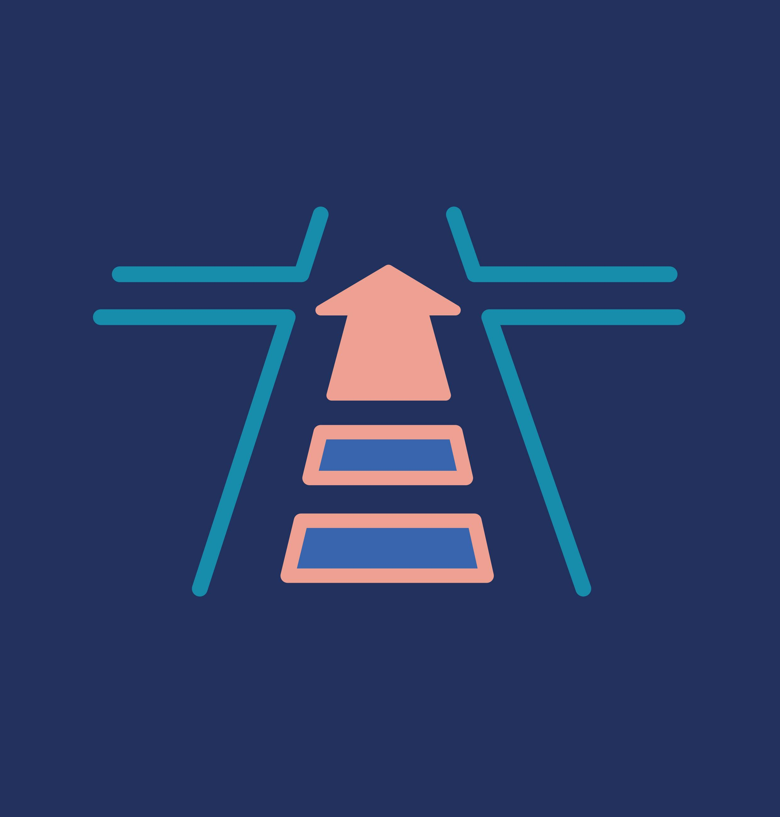 Road with arrow graphic