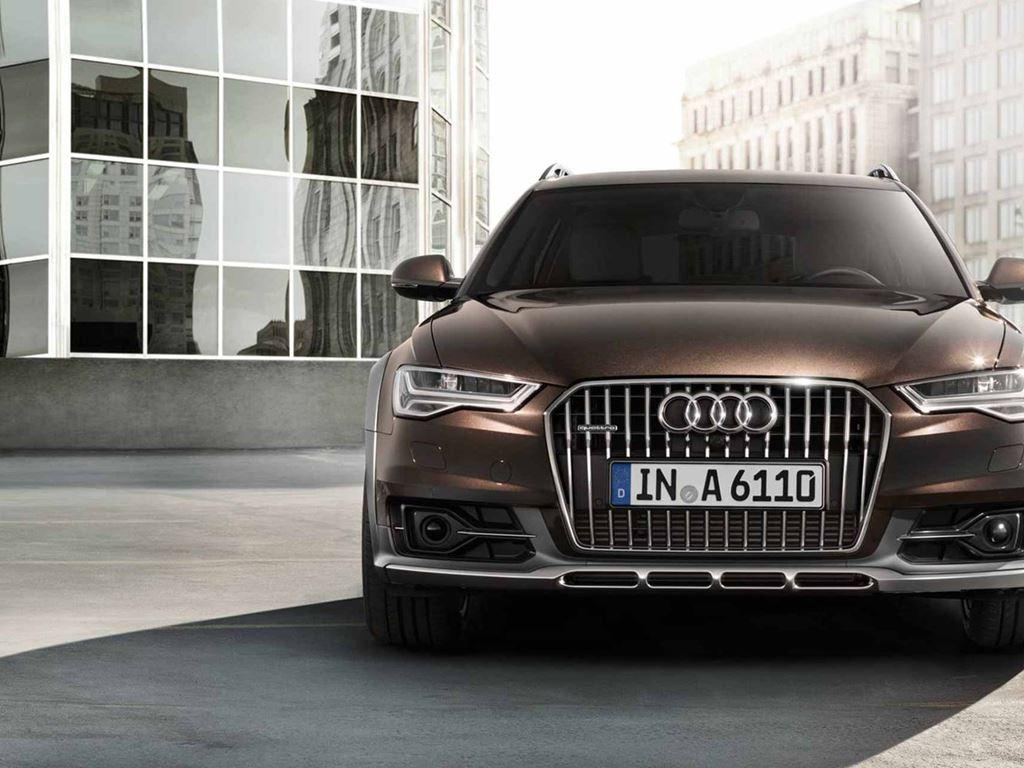 front view of brown A6 allroad