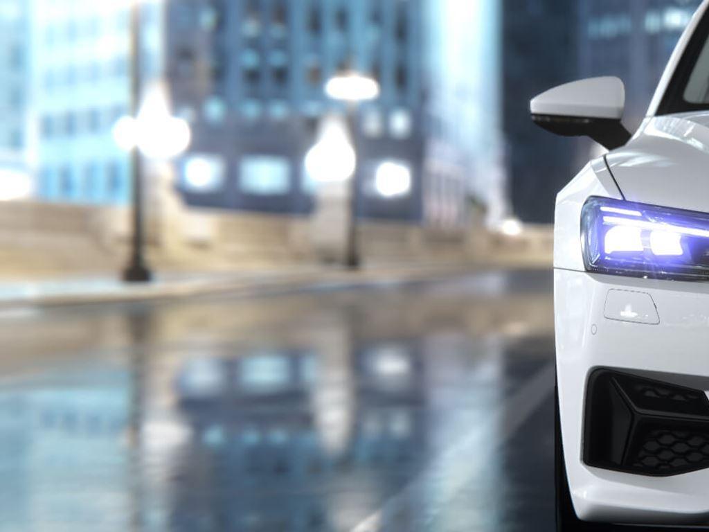 White A7 Sportback Front view