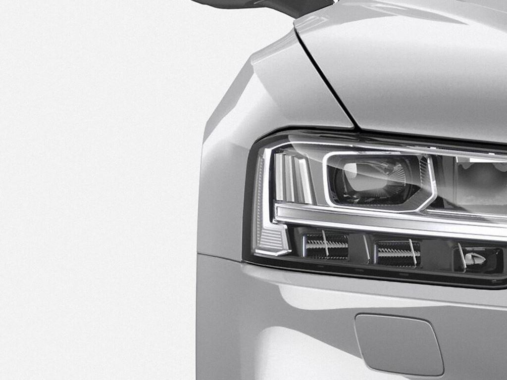 White Audi S8 Headlight