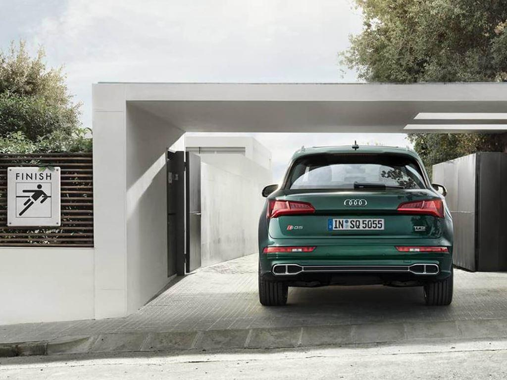 rear view of green sq5 parked