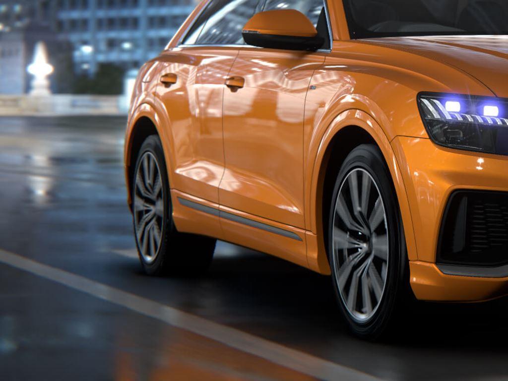 Orange Q8 SUV