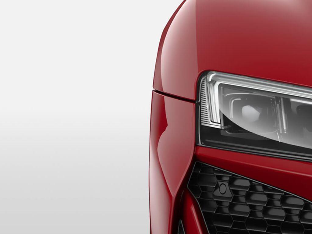 Red R8 Spyder headlight