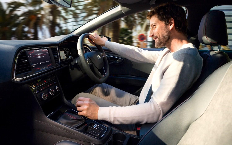 Man driving a SEAT