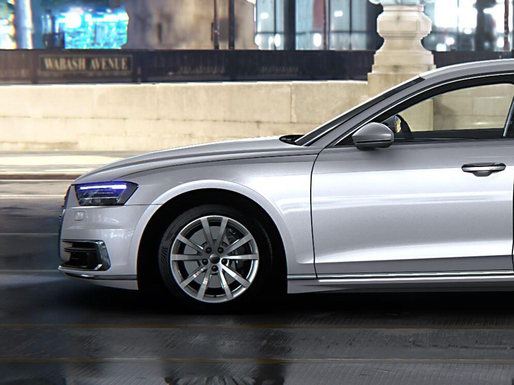 A8 Saloon side view