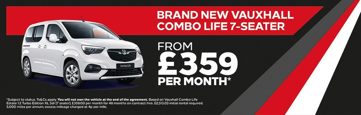 Brand New Vauxhall Combo Life 7 Seater