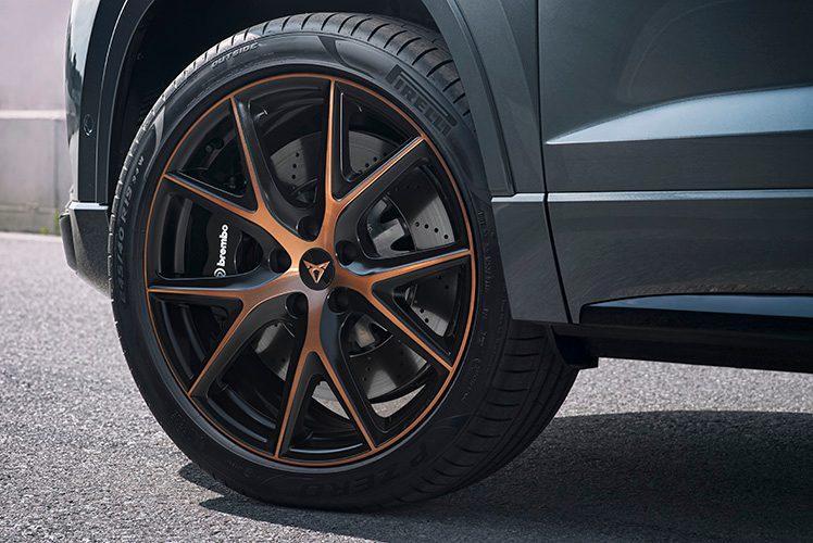 Gold CUPRA alloy wheel