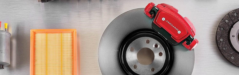 Jaguar Brake Disc with Red Caliper