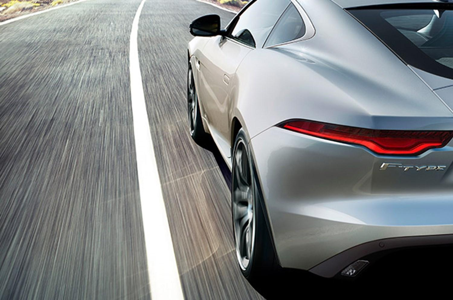 Rear Back Quarter and Side view of silver f-type
